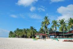 De mening van het strand in Maleisië Stock Afbeelding