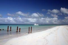 De mening van het strand van Cuba Stock Fotografie