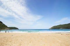 De mening van het strandpunt Stock Foto