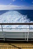 De Mening van het Traliewerk van het Dek van het Schip van de cruise stock fotografie