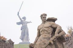 De mening van het vierkant bevond zich bij de dood van het beeldhouwwerk Stock Afbeeldingen