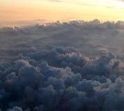 De mening van het vliegtuig stock afbeelding