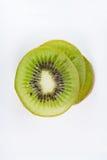 De mening van het vogeloog van de kiwifruit van de stapelplak Stock Fotografie