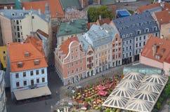 De mening van het vogeloog van Riga Royalty-vrije Stock Afbeelding