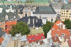 De mening van het vogeloog van Riga Stock Afbeeldingen