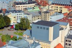 De mening van het vogeloog van Riga Stock Afbeelding