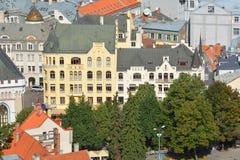De mening van het vogeloog van Riga Stock Fotografie