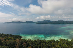 De mening van het vogeloog van Surin-Eiland, Thailand royalty-vrije stock fotografie