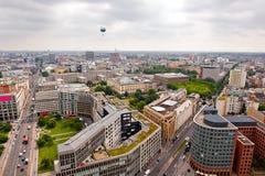 De mening van het vogelsoog - cityscape van Berlijn Stock Foto