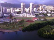 De Mening van het Waikikivenster Stock Afbeeldingen