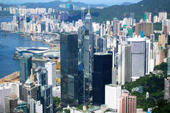 De mening van Hongkong Stock Afbeelding