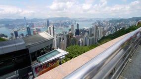 De mening van Hongkong royalty-vrije stock afbeelding