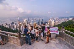De mening van Hongkong van de Piek stock foto's