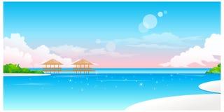 De mening van Idyllisch Strand royalty-vrije illustratie
