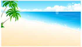 De mening van Idyllisch Strand vector illustratie