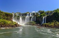 De mening van Iguazudalingen van Argentinië Stock Foto's