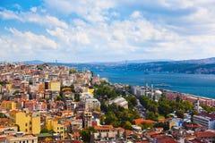 De mening van Istanboel Turkije royalty-vrije stock foto