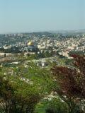 De mening van Jeruzalem stock afbeeldingen