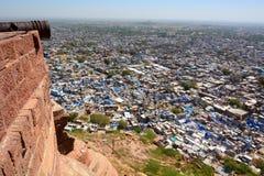 De mening van Jodhpur van Mehrangarh-Fort Rajasthan India royalty-vrije stock foto