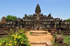 De Mening van Kambodja Angkor Roluos van de tempel Bakong Stock Afbeeldingen