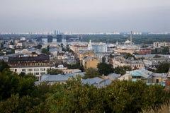 De mening van Kiev van hierboven Royalty-vrije Stock Foto's