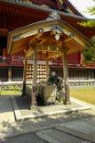 De mening van Kiyomizu kannon-doet Tempel bij Ueno-Park De tempelzaal is geclassificeerd als Belangrijk Cultureel Bezit royalty-vrije stock afbeeldingen