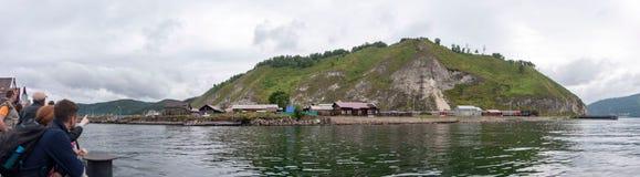 De mening van de kust van meer Baikal royalty-vrije stock afbeelding