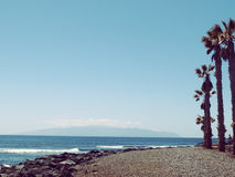 De mening van La Gomera van Canarische Eilandenspanje van Tenerife Stock Foto