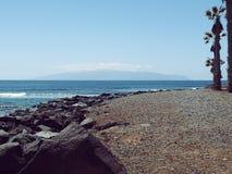 De mening van La Gomera van Canarische Eilandenspanje van Tenerife Royalty-vrije Stock Foto's