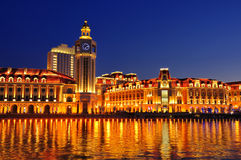 De mening van LandscapeâNight van de Stad van Tianjin Royalty-vrije Stock Afbeeldingen