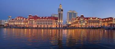 De mening van LandscapeâNight van de Stad van Tianjin royalty-vrije stock afbeelding
