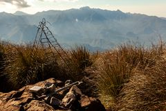 De mening van de landschapsberg van Pico Três Estados 3 de grenstop van staten royalty-vrije stock fotografie