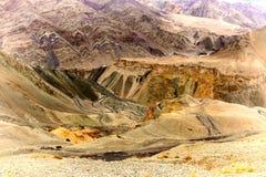 De mening van landt, Lamayuru, Ladakh, Jammu en Kashmir, India op de maan Stock Afbeeldingen