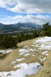 De mening van Lange Piek in Rocky Mountain National Park Royalty-vrije Stock Fotografie