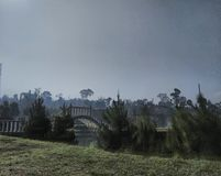 De mening van Lembah Dewata Lembang stock foto's