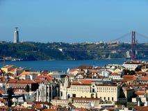 De mening van Lissabon Stock Fotografie