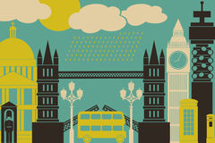 De Mening van Londen Stock Foto