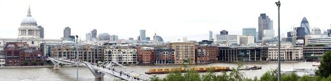 De mening van Londen met Theems stock foto