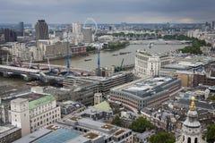 De mening van Londen van Theems Royalty-vrije Stock Foto