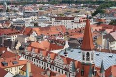 De mening van München van St Peter Kerk Royalty-vrije Stock Foto