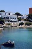De mening van Majorca over hotel Royalty-vrije Stock Foto's