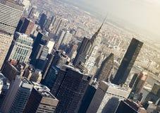 De mening van Manhattan Royalty-vrije Stock Fotografie