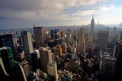 De mening van Manhattan van Rockeffeler-centrum - Bovenkant van de rots stock afbeelding
