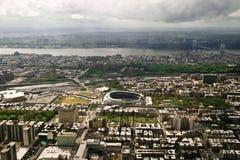 De mening van Manhattan van een helikopter, New York, de V.S. Stock Afbeeldingen