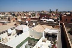 De mening van Marrakech Royalty-vrije Stock Foto's