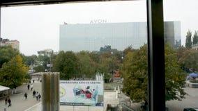 De mening van de Merriesi Sfint van Bulevardulstefan cel van de dalende Lift van Magazinul Universele Centrale UNIC stock video