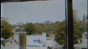 De mening van de Merriesi Sfint van Bulevardulstefan cel van de dalende Lift van Magazinul Universele Centrale UNIC stock footage