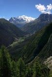 De mening van Mont Blanc van Zwitserland Royalty-vrije Stock Foto's