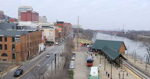 De mening van Nashville, Tennessee van Broadway-Straat 4K stock footage