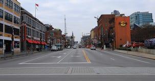 De mening van Nashville, Tennessee van Broadway-Straat 4K stock video